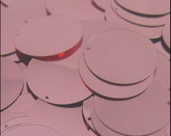 Metallic Dusky Pink Disc Sequins 24mm - JR02859