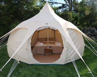 13ft Lotus Belle Outback Tent yurt, burning man, glamping festival tent