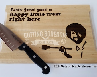 "11x14x1"" Happy Treat Cutting board / serving platter/ kitchen gift. Funny Cutting Board, kitchen gift, artist gift, art gift, painter gift"
