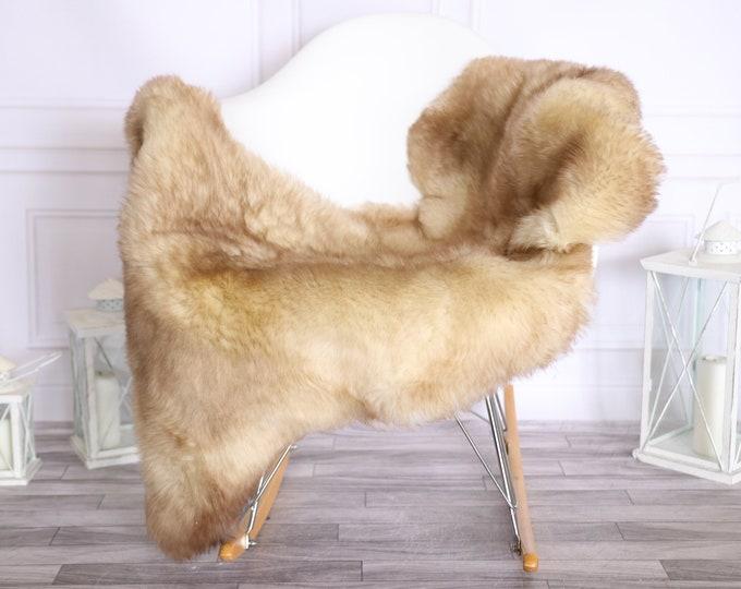 Sheepskin Rug   Real Sheepskin Rug   Shaggy Rug   Scandinavian Rug     SCANDINAVIAN DECOR   Beige Brown Sheepskin #OLHER10