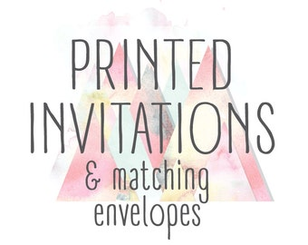 Printed Invitations - With Matching Envelopes