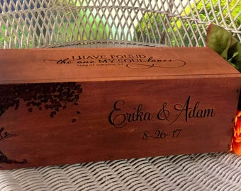 Wedding Wine Box, Rustic Wine Box, Wine Box, Love Letter Box, Wedding Gift, Anniversary Gift