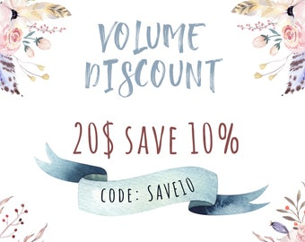 Volume Discount 10% off. Do not buy this listing!!!