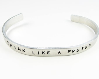 Science Bracelet - Adjustable Cuff with Funny Biology or Chemistry Quote -  Geek Humor for Scientist