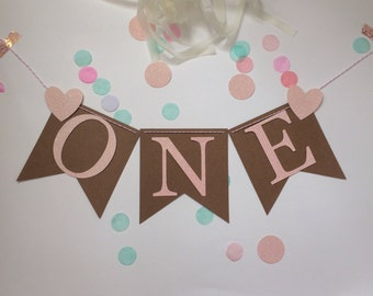 Birthday party glitter rustic banner