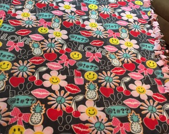 Emoji Graffiti Craze!! Get that special teen or tween something she'll love. A hodge podge of eye candy on fabric!