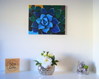 Original Painting Flower Painting Art Wall Flower Art Acrylic Painting Canvas Painting by Noemi ODonnell @ WanderingartsStudio