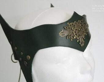 Leather headpiece • warrior crown - elf crown- statement jewelry