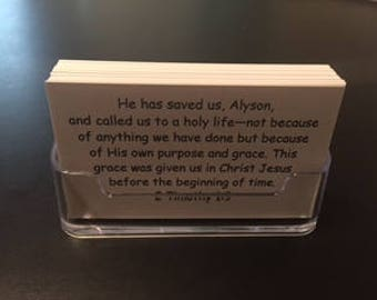 SALVATION Personalized Scripture Cards