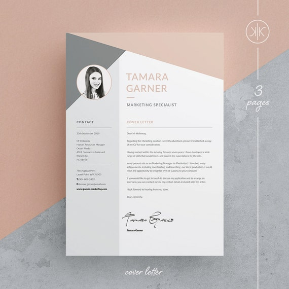 Tamara resumecv template word photoshop indesign tamara resumecv template word photoshop indesign professional resume design cover letter instant download yelopaper Images