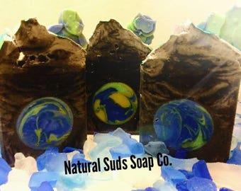 Neptune Bar Soap frankincense patchouli Kashmir Lavender ALL NATURAL