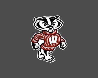 Wisconsin Bucky Badger - Die Cut Decal/Sticker