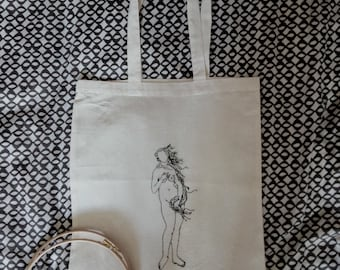Birth of Venus Embroidered/Tote Bag