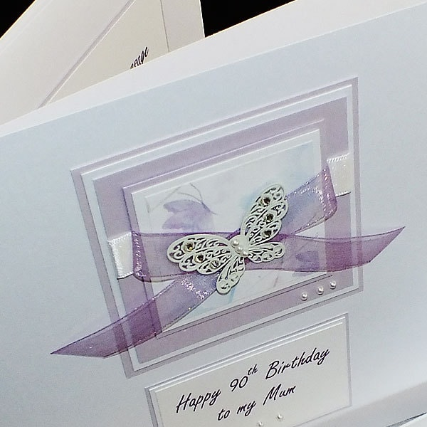 Luxury handmade birthday card large lilac zoom bookmarktalkfo Image collections