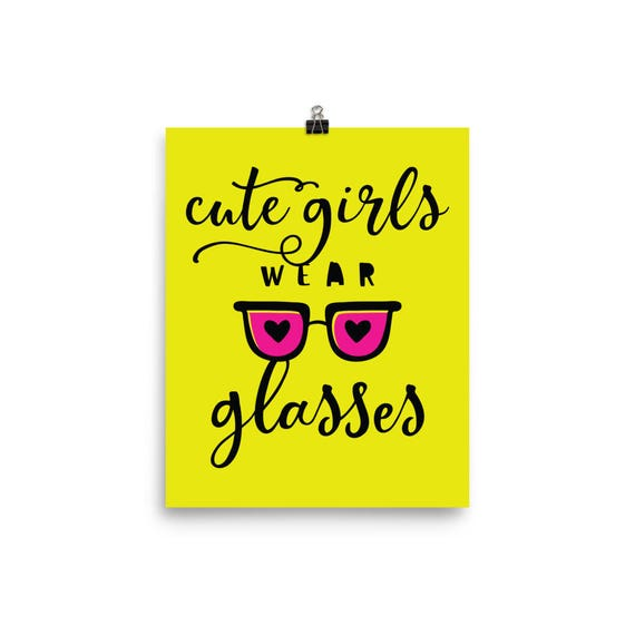 Wall Decor Wall Hanging Cute Girls Wear Glasses Trendy Quote