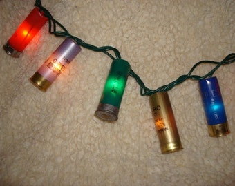 Multi Color Shotgun Shell Party Lights- Set of 100 lights!!! (23 feet total).