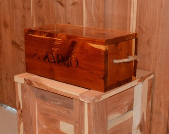 cedar box, wooden ammo box
