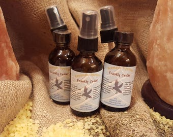 Aromatic Spritzer, Frankly Cedar, Body Mist, Relax, Chemical free, Cologne,