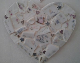 Tumbled Pottery Heart Mosaic