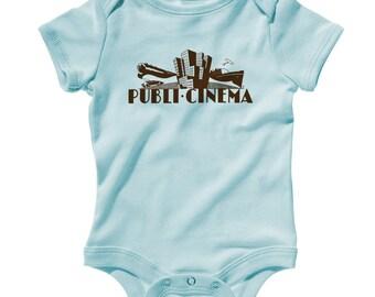 Baby Publi Cinema Romper - Infant One Piece - NB 6m 12m 18m 24m - Vintage Film Baby - 4 Colors