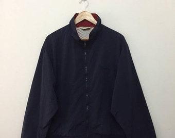 15% SALE Vintage Eddie Bauer Jacket/Eddie Bauer Varsity Jacket/Navy Blue/Size M