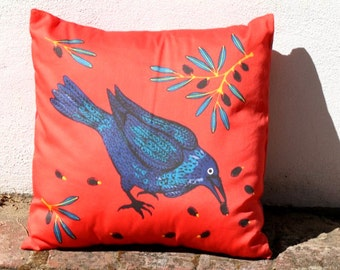 Raven and Olives Australian Cushion Cover