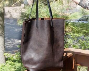 leather tote, leather tote bag, leather bag, handmade tote bag, custom leather bag, brown leather tote, tote bag sale, tote bag sale