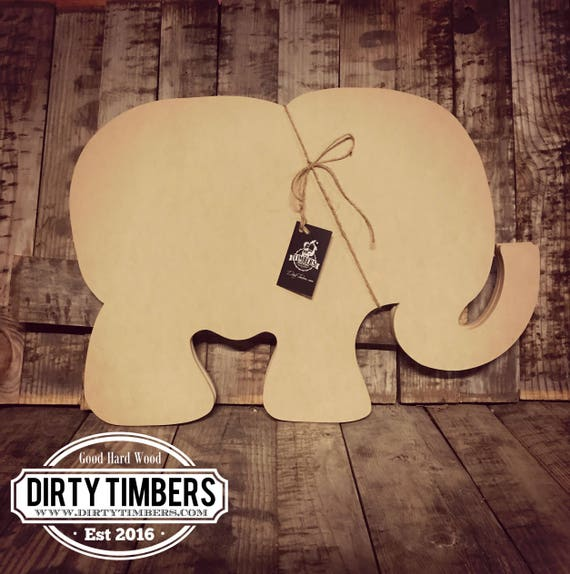 Unfinished, Elephant, Baby, Shower, Decor, Ready To Paint, Door, Hanger,  Alabama, Wood, Blank, Cut Out, DT2042 From DirtyTimbers On Etsy Studio