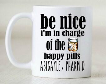 Pharmacist Gift Pharmacist Graduation Pharm D gift Pharmacy Tech gift RX gift rx mug Pharmacy Student pharmacy intern gift  prescription mug