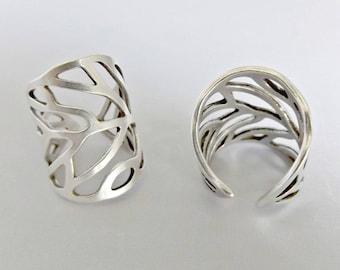 Boho rings, silver rings, rings for women, boho ring, bohemian ring, adjustable ring, wide band ring, midi ring, unique silver ring
