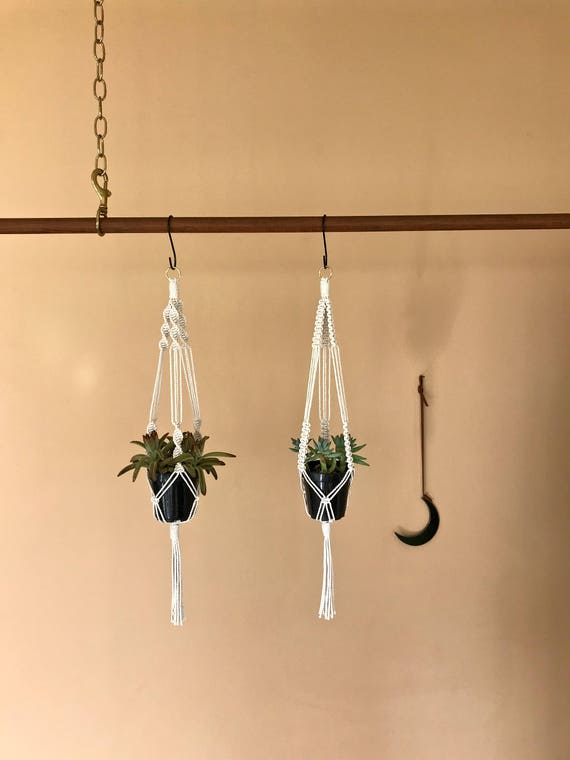 """Macrame Plant Hanger - 25"""" Knotted"""