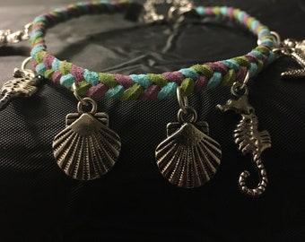 3 strand braided ankle bracelet