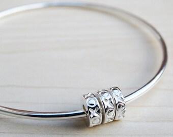 Silver Bangle & XOXO Silver Beads