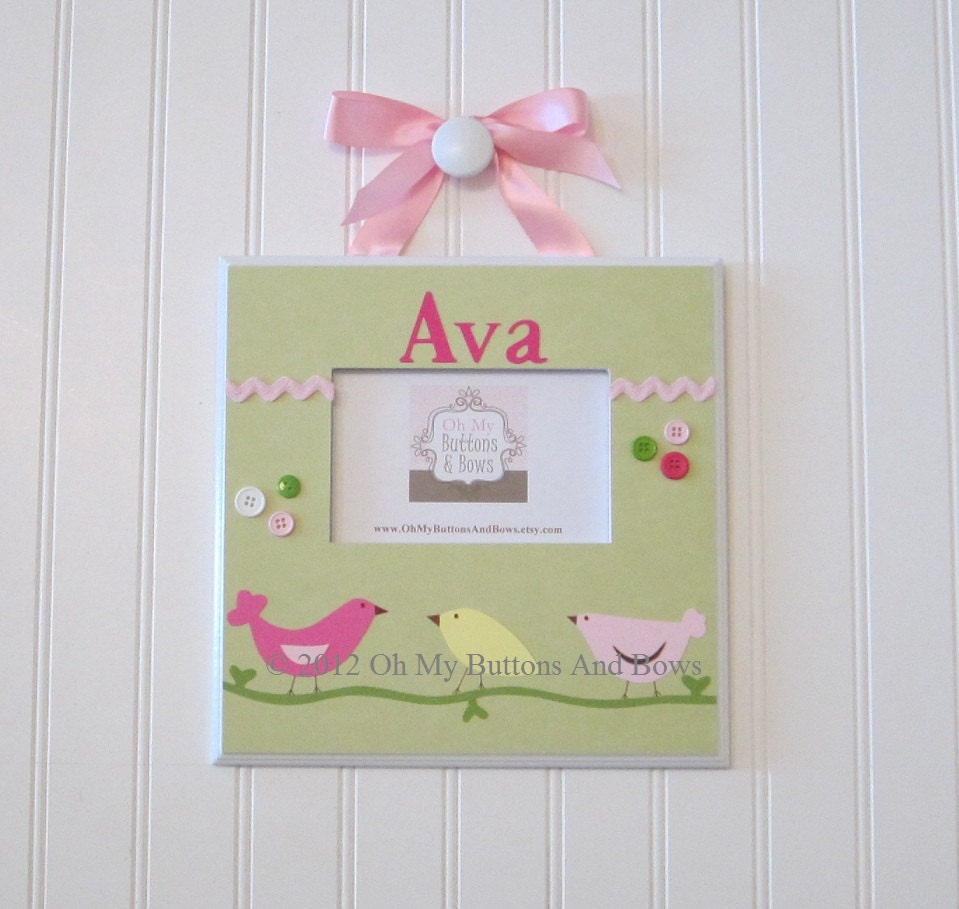 Bird Theme Picture Frames . Hanging Standing Frames . Boutique ...