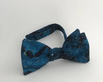 Self Tie Bow Tie- Galaxy