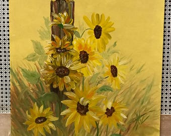 Brown Eyed Susans Oil Painting