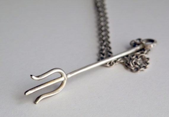 Silver Trident Necklace