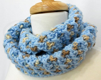Crochet Infinity Scarf - Crochet Infinity Cowl - Great Neck Warmer - Ready to Ship