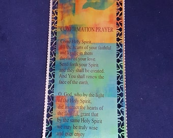 Confirmation Gift, Confirmation Bookmark, Confirmation Prayer, Personalised Confirmation Gift, Personalized Confirmation Gift
