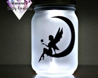 Fairy Jar Night Light, Fairy in a Jar Night Light, Fairy, Fairy Jar, Night Light, Nite Lite, Fairies, Mason Jar, Solar Light