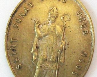 Médaille Miraculeuse religieuse Français ancienne de Saint Donat en charme Pendant des années 1800
