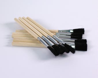 Paste Glue Brushes Short Handle Flat Hog Bristle Glue Brushes Choose Quantity