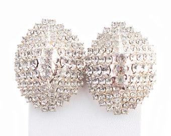 Rhinestone Pave Dome Earrings