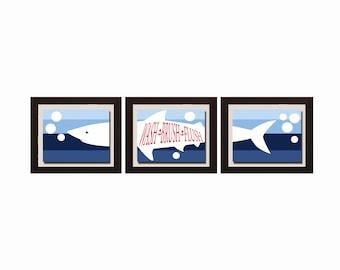 Shark Bathroom Decor, Bathroom Rules, Boy Bathroom Decor, Boy Bathroom Wall Art, Shark Wall Art, Shark Print,