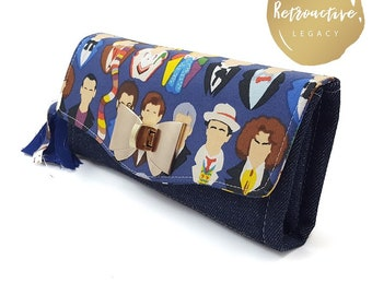 Doctor Who Accordion Clutch Wallet - Whovian Clutch Wallet - Dr.Who Wallet - Dr. Who NCW - Whovian Gift