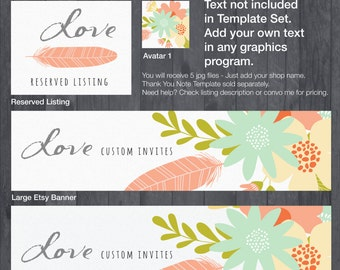 Etsy Banner and Store Branding Doodle DIY Template - #1875