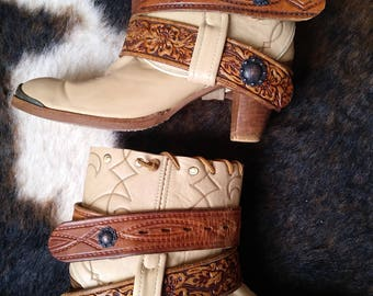 Ladies sz 8 Acme Cowgirl Boots