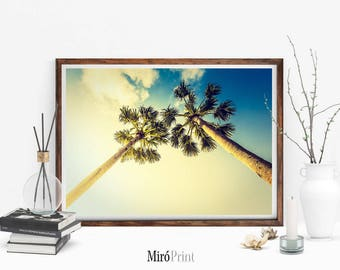Palm Tree Print, Palm Trees, Tropical Wall Art, Californian Palm Tree Print, Modern Wall Art Prints, Palm Tree Photography, Instant Download