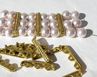 brass 20 connectors has 3 hole 3 mm to bracelets antique bars