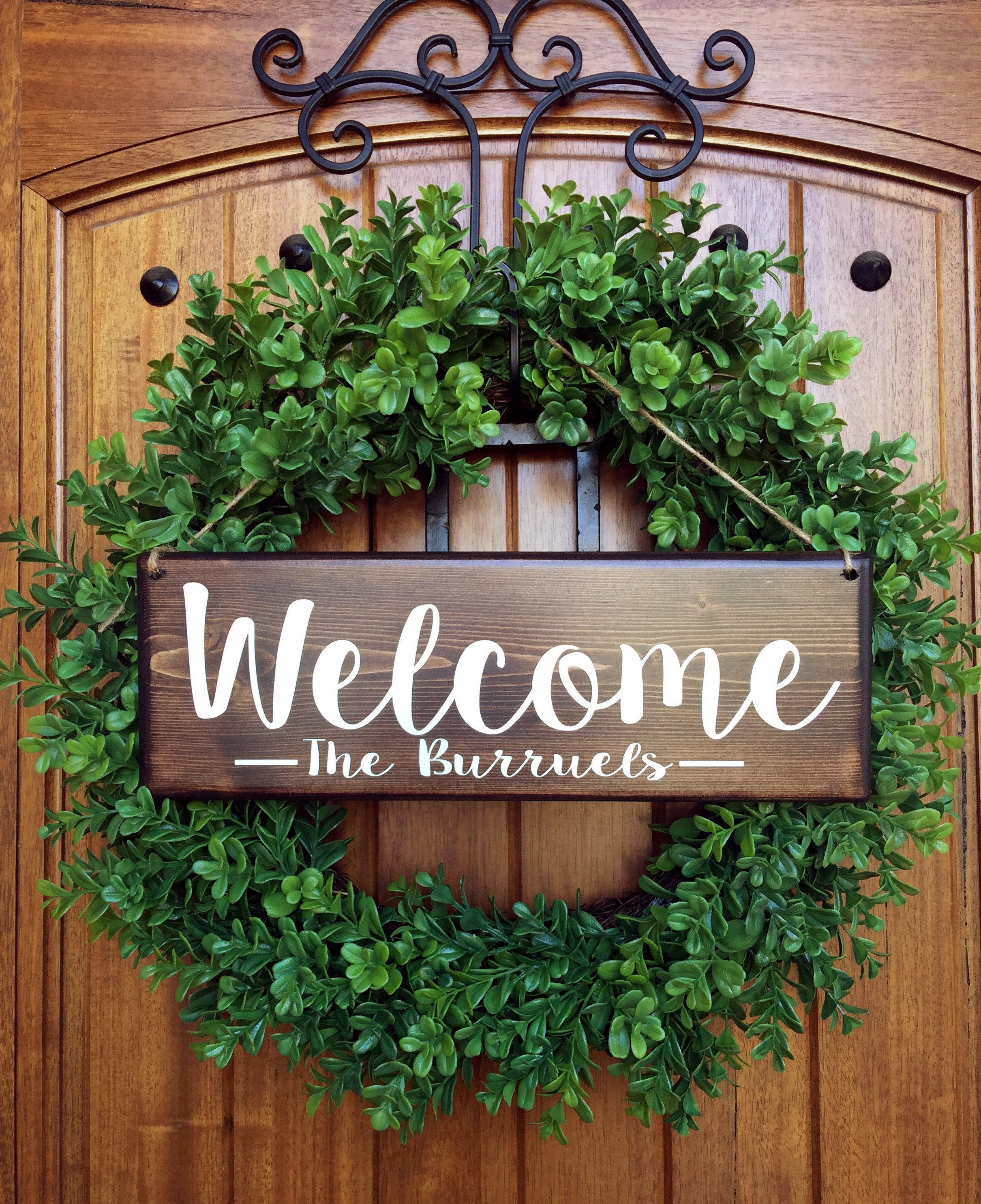 Welcome sign welcome door sign personalized sign family zoom rubansaba
